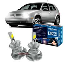 Kit LED 2D Headlight Shocklight tipo xenon Golf Nacional 1999 2000 2001 2002 2003 2004 2005 2006 - farol baixo H7 35W -