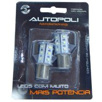 Kit Led Autopoli 12V torre 18 leds SMD 5W 1 polo branca -