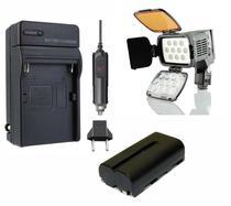 Kit led profi led-vl001a + bateria np-f550/np-f570 + carregador - Universal
