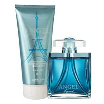 Kit Legend Angel For Women com Perfume Feminino edp e Hidratante Perfumado Lonkoom -