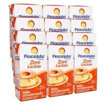 Kit Leite Condensado Piracanjuba Zero Lactose 12x395g -