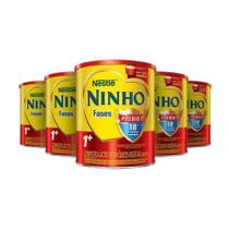 Kit Leite Em Pó Ninho Fases 1+ Lata 800g Leve 5 Pague 4 -