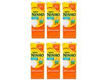 Kit Leite Semidesnatado Zero Lactose UHT Ninho - Levinho 1L 6 Unidades