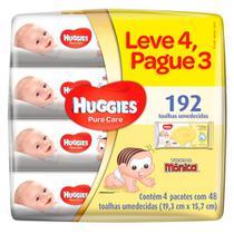 Kit Lenço Umedecido Huggies Pure Care 4 Unidades -