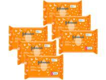 Kit Lenço Umedecido Johnsons Baby - Limpeza e Suavidade 6 Pacotes com 44 Unidades Cada