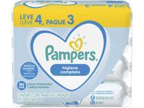 Kit Lenço Umedecido Pampers Higiene Completa - 4 Pacotes com 48 Cada