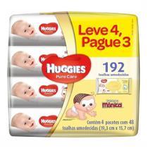 Kit lenços umed. huggies pure care c/48 lv4 pg3 -
