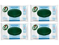 Kit Lenços Umedecidos Multiuso Cif Sensitive  - 4 Pacotes com 36 Unidades Cada