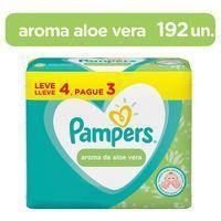 Kit Lenços Umedecidos Pampers Aroma de Aloe Vera 192 Unidades -