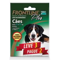 Kit Leve 3 Pague 2 - Antipulgas e Carrapatos Frontline Plus para Cães de 40 kg ou mais - Merial