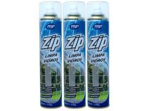 Kit Limpa Vidros Spray Espuma Eficaz Sem Manchas Zip 400ML 3 Unidades - Mundial Prime