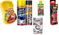 Kit Limpeza Automotiva Luxcar Completa - 06 Itens -