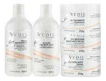 Kit Limpeza De Pele Linha Facial Profissional 5 Itens - Vedis -
