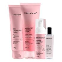 Kit limpeza facial completa skin care hidrabene -