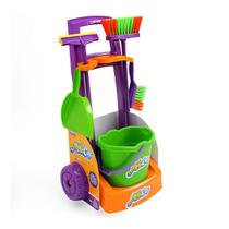 Kit Limpeza Infantil Vassoura Rodo Pá Balde Mobi Car - Usual - Usual Brinquedos