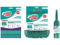 Kit Limpeza Microfibra FlashLimp KIT 5388 - 3 Unidades
