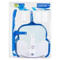 Kit Limpeza para Piscina com Aspirador Oval, Escova Curta e Peneira FLUIDRA -