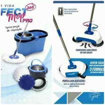 Kit Limpeza Rápida Perfect Mop Pro + Vassoura Mágica 360º -