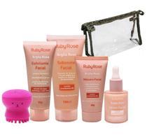 Kit Linha Facial Argila Rosa - Ruby Rose - Cuidados com a Pele Skin Care -