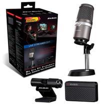 Kit Live Streamer AVerMedia 311 com Placa de Captura, Webcam e Microfone USB (BO311) -