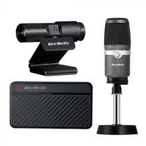 Kit Live Streamer AVERMEDIA 311: Webcam 1080p + Placa de captura + Microfone -