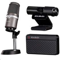 Kit Live Streamer Avermedia - Placa de Captura GC311 + Microfone AM310 + Webcam Full HD - BO311 -