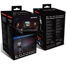 Kit live streamer - placa de captura gc311 + microfone profissional am310 + webcam 1080p - bo311 - Avermedia