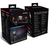 Kit Live Streamer - Placa de Captura + Microfone Profissional + Webcam - Bo311 - Avermedia