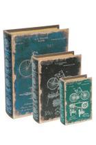 Kit Livro Caixa Bicicleta - 3 peças - Mart
