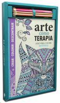 Kit livro para colorir: arte como terapia - Queen Books