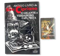 Kit livro São Cipriano capa preta 500 páginas + baralho São Cipriano 52 cartas - Artesanal