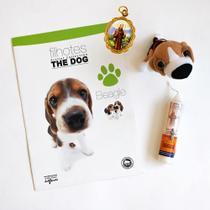 Kit Livro The Dog Beagle, Acompanha Cachorrinho De Pelúcia,medalha  e vela Benzida. Proteja seu Pet. -