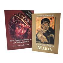 Kit livro vida paixão e santissima virgem ana catarina emmerich - Armazem