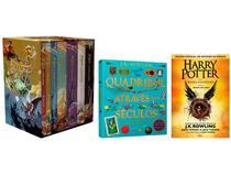 Kit Livros Box Harry Potter + Quadribol Através - dos Seculos + Harry Potter e a Criança Amaldiçoada