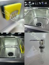 Kit Lixeira Embutir 5 lts Escorredor, Dosador E Porta Esponja Em Inox 304 - Lojasarah
