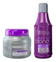 Kit Loiro Brilhante - Banho de Pérola + Shampoo Desamarelador Forever Liss - Forever Liss Professional