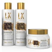 Kit Lokenzzi Crono Repair Hidratação Shampoo Cond e Máscara -