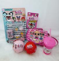 KIT Lol Surprise -  Mini Bonecas Lol + Bola Lol Surpresa + Uno Lol + Bolsa Lol + Copo Lol -
