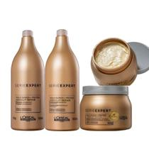 Kit loreal absolut repair gold shampoo 1500ml e condicionador1500ml mascara 500gr -