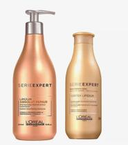 Kit Loreal Expert Absolut Repair Lipidium Profissional Shampoo 500mL + Condicionador 200mL