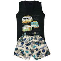 Kit lote 10 pçs roupa infantil 5 conjunto menino verão atacado 1/2/3 anos - Nacional