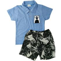 Kit lote 3 conjunto infantil menino roupa infantil masculino verão 4/6/8/10 anos - Nacional