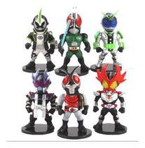 Kit Lote Bonecos Miniaturas Action Figures Black Kamen Rider - Crazy Toys