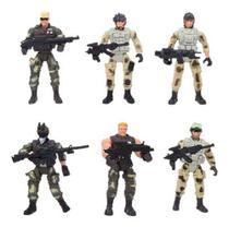 Kit Lote Bonecos Soldados Guerreiros Action Figure 10 Cm A7 - Elite Heroes