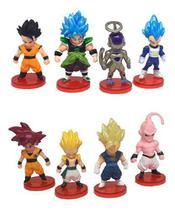 Kit Lote De Bonecos Miniaturas Dragon Ball Z Enfeites 6 Cm -