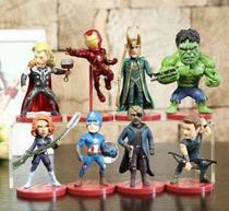 Kit Lote De Bonecos Miniaturas Marvel Loki Thor Vingadores -