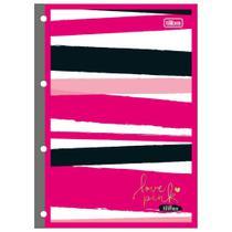 KIT Love Pink Bloco, lápis, caneta, borracha, corretivo, régua, clips, stickers e borracinha - Tilibra