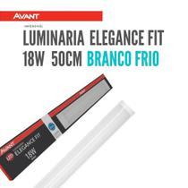 Kit Luminaria Led Sobrepor Slim Linear Branco Frio 18w 50cm Avant -