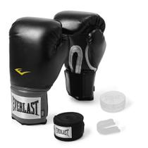 Kit Luva de Boxe Everlast Training 14Oz + Bandagem -