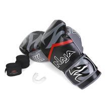 Kit Luva de Boxe / Muay Thai Naja New Extreme + Bandagem + Protetor Bucal 12 Oz -